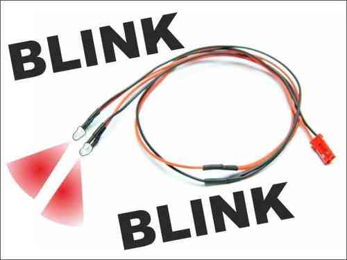 LED Kabel blinkend (rot)